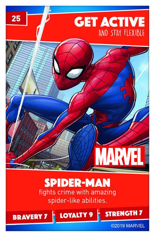 Sainsburys Card Number 58 Spider-GirlSainsbury/'s Disney Heroes Cards 2019